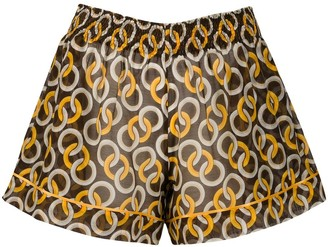 F.R.S For Restless Sleepers Geometric-Print Shorts