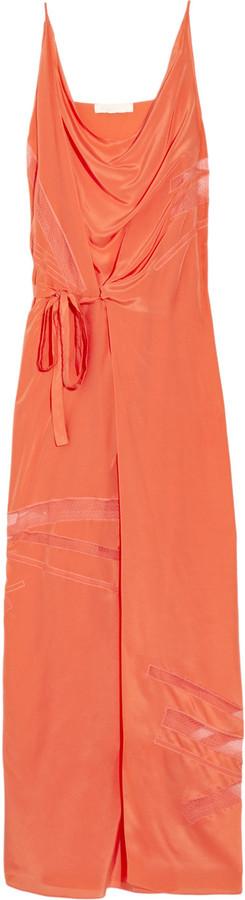Vanessa Bruno Tulle-paneled silk maxi dress