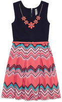 Knitworks Knit Works Belted Dress with Necklace - Girls' 7-16