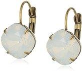 "Sorrelli Pearl Luster"" Single Crystal Drop Earrings"