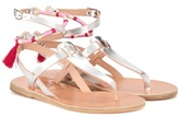 Lemlem X Ancient Greek Sandals metallic leather sandals