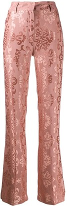 Ann Demeulemeester Brocade Embroidery Trousers
