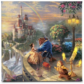 Disney ''Beauty and the Beast Falling in Love'' Gallery Wrapped Canvas by Thomas Kinkade