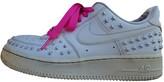 Nike Force 1 White Plastic Heels