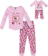 Dollie & Me Pink 'Little Sidekicks' Pajama Set & Doll Outfit - Toddler & Girls