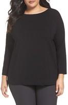 Eileen Fisher Plus Size Women's Organic Cotton Jersey Tee