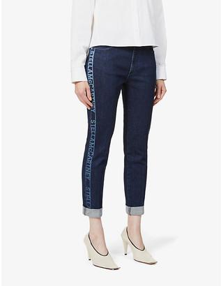 Stella McCartney Branded skinny mid-rise stretch-denim jeans
