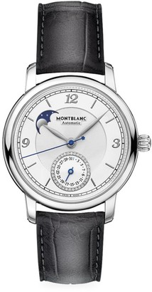 Montblanc Star Legacy Stainless Steel & Alligator Strap Moonphase & Date Watch