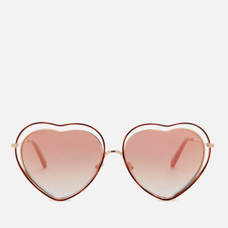 Chloé Women's Nola Frame Sunglasses - Havana/Brown Peach
