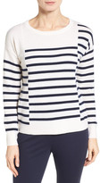 Nordstrom Placed Stripe Cashmere Pullover