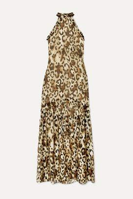 Rachel Zoe Tosca Ruffled Leopard-print Chiffon Maxi Dress