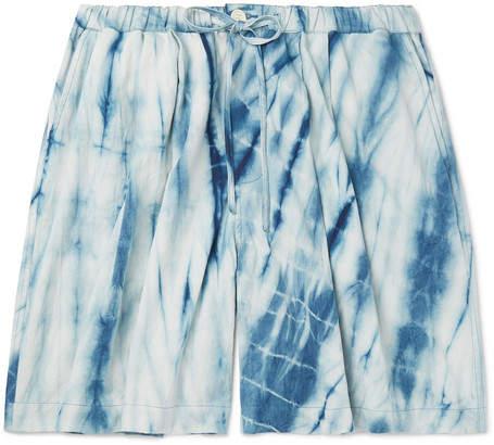 11b8b9b492a Mfg. Wide-Leg Tie-Dyed Organic Cotton Drawstring Shorts