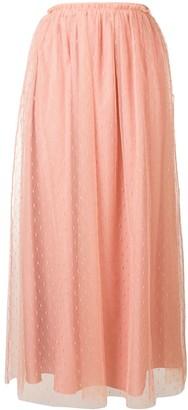 RED Valentino Polka-Dot Mid-Length Skirt