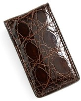 Boconi Men's Crocodile Magnetic Money Clip - Brown