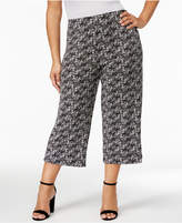 Alfani Plus Size Printed Knit Culottes, Created for Macy's