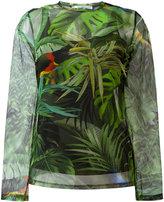 Max Mara tropical print longsleeve top - women - Polyamide/Spandex/Elastane - 44