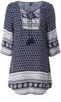 Izabel London **Izabel London Kaftan Woodblock Dress