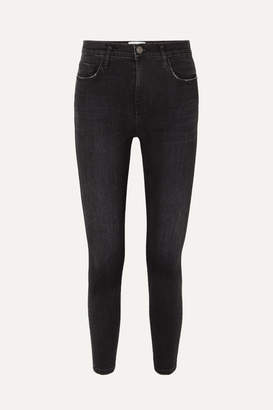 Current/Elliott The Stiletto High-rise Skinny Jeans - Black