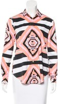 Mara Hoffman Abstract Print Button-Up Top