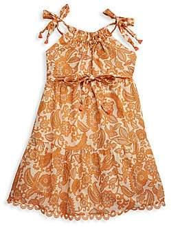 Zimmermann Kids Little Girl's & Girl's Peggy Tie-Shoulder Bow Dress