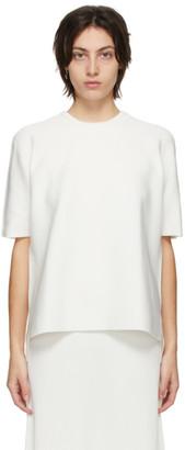 CFCL White Garter Half Sleeve T-Shirt