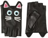 Karl Lagerfeld Choupette Leather Fingerless Gloves