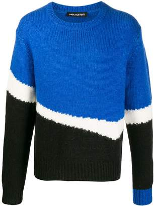 Neil Barrett colour-block jumper
