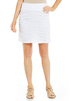 XCVI Ruched Trace Pull-On Pencil Skirt