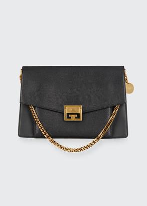 Givenchy GV3 Medium Pebbled Leather Shoulder Bag