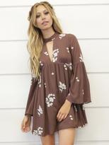 West Coast Wardrobe City of Angles Mini Dress in Brown