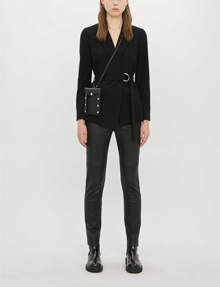 Claudie Pierlot Buckled regular-fit crepe blazer