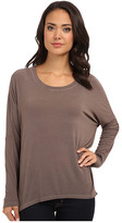 Allen Allen Rayon Jersey L/S Drop Shoulder Scoop Top