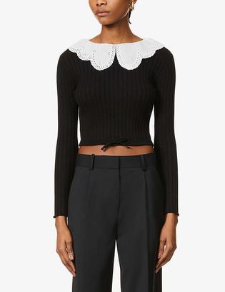 Musier Paris Janika peter pan-collar cotton-knit jumper