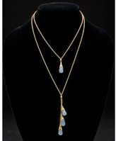 "Scott Kay guardian"""" 14k Over Silver 43.16 Ct. Tw. Gemstone Double Strand Pendant."