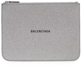 Balenciaga Everyday Glitter Leather Pouch