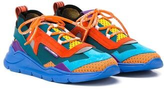 Dolce & Gabbana Kids TEEN colour-block sneakers