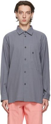 Issey Miyake Grey Cotton Drip Shirt