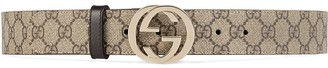 Gucci GG Supreme pattern belt