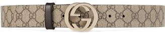 Gucci GG Supreme pattern belt