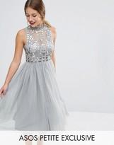 Asos Mesh Prom Dress with Embellished Bodice