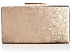 Aqua Metallic Box Clutch - 100% Exclusive