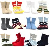 TeeHee Kids Boys Cotton Basic Crew Socks 12 Pair Pack