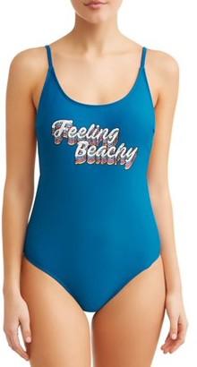 No Boundaries Juniors Feeling Beachy One Piece Swimsuit