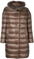 Herno padded coat with fur trim - women - Cotton/Feather Down/Fox Fur/Acetate - 44