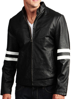Black & White Leather Moto Jacket
