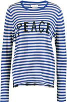 Velvet by Graham & Spencer Intarsia-knit striped cotton top
