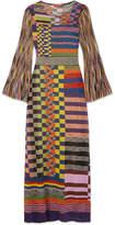 Missoni Metallic Stretch-knit Maxi Dress - Purple