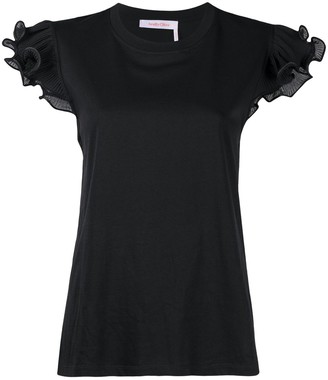 See by Chloe ruffle-trim fitted T-shirt