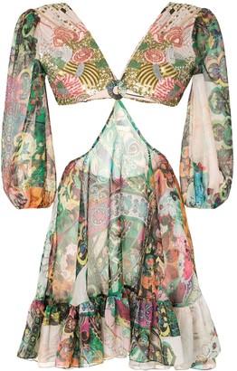 Alexis Ziya floral print dress