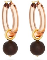 Lizzie Fortunato Spritz Rose Gold-plated Hoop Earrings - Womens - Brown